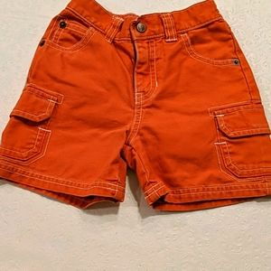 GYMBOREE boy orange short 12-18 mo